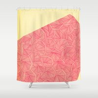 - summer : the monolith is pink - Shower Curtain
