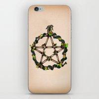 pentagram iPhone & iPod Skins featuring PENTAGRAM GARLAND by Dianah B