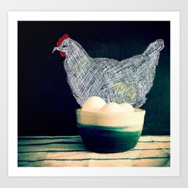 Chicken's eggs Art Print