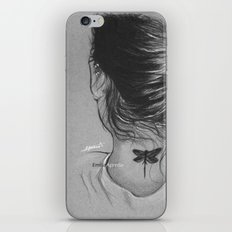 Lauren Jauregui Dragonfly Tattoo Sketch iPhone Skin
