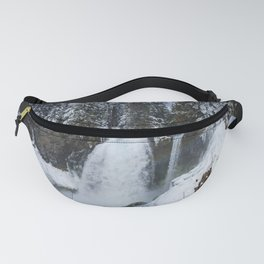 Winter Waterfall II - Pacific Northwest Nature Photography Fanny Pack