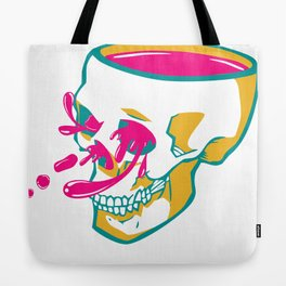 Liquid thoughts:Skull Tote Bag