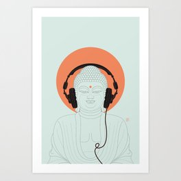 Buddha : Listen to Om! Art Print