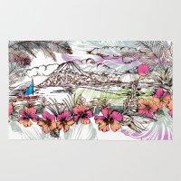 sail Area & Throw Rugs featuring Sail Away by Vikki Salmela