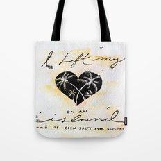 Heart island Tote Bag
