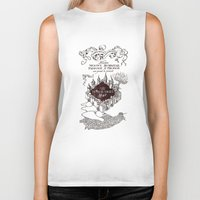 marauders Biker Tanks featuring MARAUDERS MAP by Graphic Craft