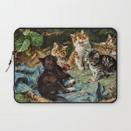 12,000pixel-500dpi - Five Cats In A Basket - Julius Anton Adam Laptop Sleeve