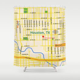 Map of Houston TX #1 Shower Curtain