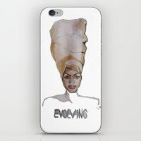 erykah badu iPhone & iPod Skins featuring Erykah Badu by Icillustration