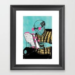 Post it notes Framed Art Print