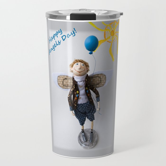 Happy Angels Day Travel Mug