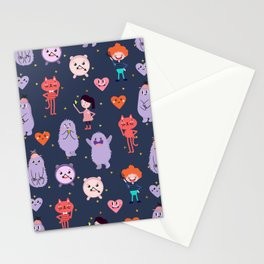 funny monsters Stationery Cards