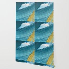 Paradise: a vibrant, minimal, abstract mixed media piece Wallpaper