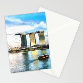 Hotel Marina Bay Sands and ArtScience Museum, Singapore Stationery Cards