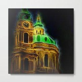 Fractal Prague Glow UV Metal Print