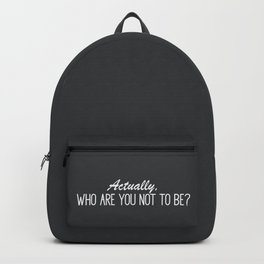 Minimalistic Inspirational Quote Backpack
