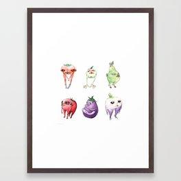 all six babies Framed Art Print