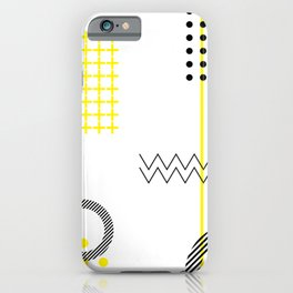 DOTS + LINES ON WHITE iPhone Case