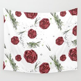 Roses pattern Wall Tapestry