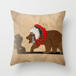 Bear Chief Throw Pillow