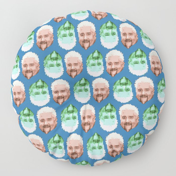 Guy Fieri Repeated Pattern Floor Pillow