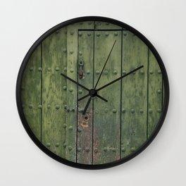 Green Door Wall Clock