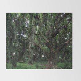 Hawaiian Forest Throw Blanket