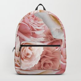 Soft Pink Roses Backpack