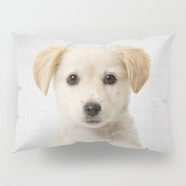 Golden Retriever Puppy - Colorful Pillow Sham