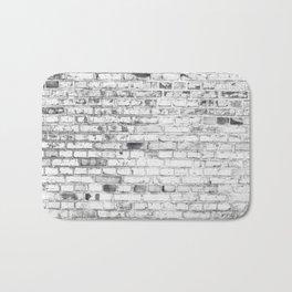 Withe brick wall Bath Mat