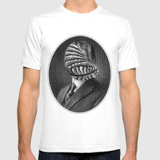 ECTOZON White MEDIUM Mens Fitted Tee