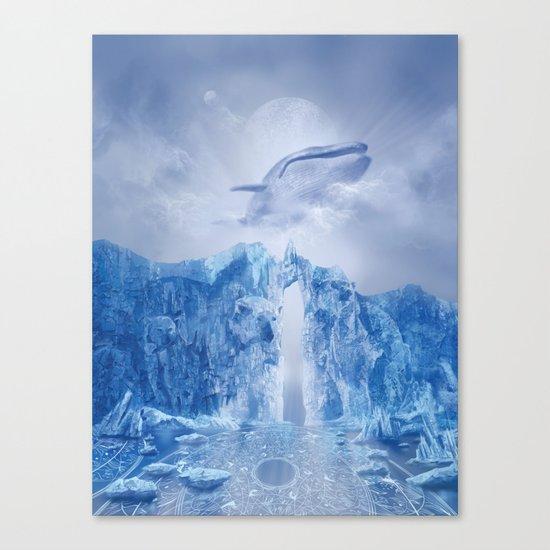 white landscape 1 Canvas Print