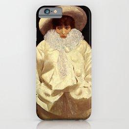"""Sarah Bernhardt as Pierrot"" by Giuseppe De Nittis iPhone Case"