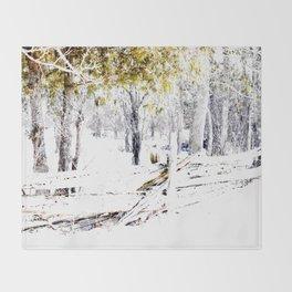 Winter Fence Line | Landscape | Nadia Bonello | Canada Throw Blanket