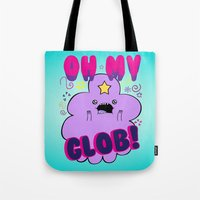 lumpy space princess Tote Bags featuring Lumpy Space Princess by WaXaVeJu