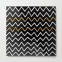 Writing Exercise-Simple Zig Zag Pattern- White Gold on Black -Mix & Match with Simplicity of life by simplicity_of_live