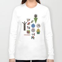 vegetable Long Sleeve T-shirts featuring Vegetable Colours by Mr Onion