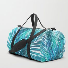 Turquoise Palm Leaves Duffle Bag