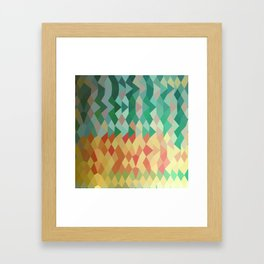 Emerald Green Harlequins Abstract Low Polygon Background Framed Art Print