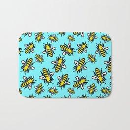 Honey Bee Swarm Bath Mat