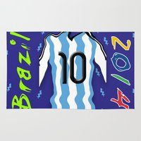 argentina Area & Throw Rugs featuring Argentina in Brazil 2014 by WIGEGA