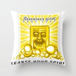 Buddha Bar: Cleanse Your Spirit! Throw Pillow