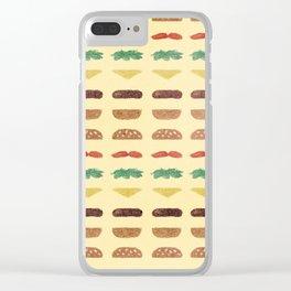 Build a Burger Clear iPhone Case