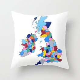 England, Ireland, Scotland & Wales Throw Pillow