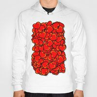 hearts Hoodies featuring Heart by 10813 Apparel