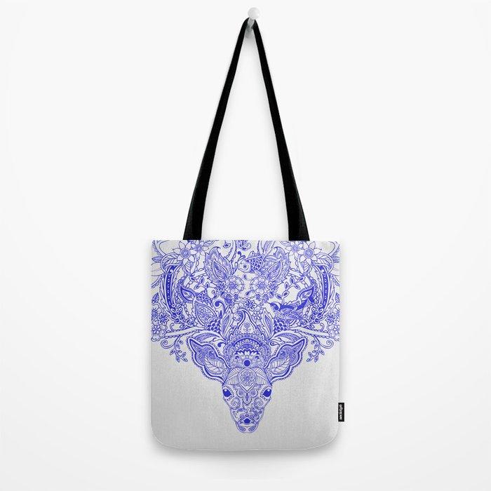 Little Blue Deer Tote Bag