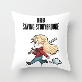 BRB -- Saving Storybrooke Throw Pillow