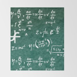 Math Equations Throw Blanket