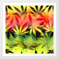 marijuana Art Prints featuring Marijuana by SpecialTees