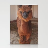 llama Stationery Cards featuring Llama  by JCalls Photography